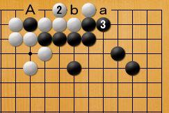 ヨセの問題-正解図2・白要手入れ・半コウ残り
