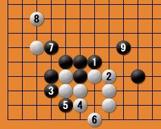 黒番四子局-kgs005-5