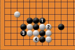 黒番四子局-kgs005-6