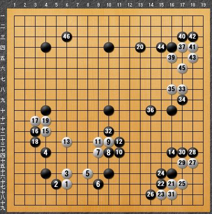 黒番 九子局-panda008-3
