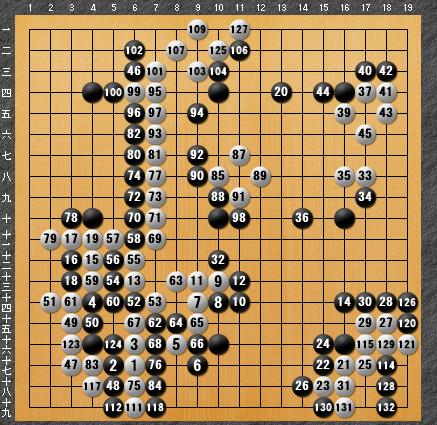 黒番 九子局-panda008-7