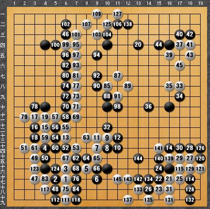 黒番 九子局-panda008-8