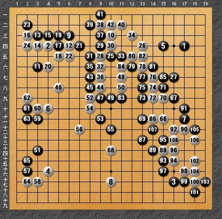黒番 互先-panda009-4