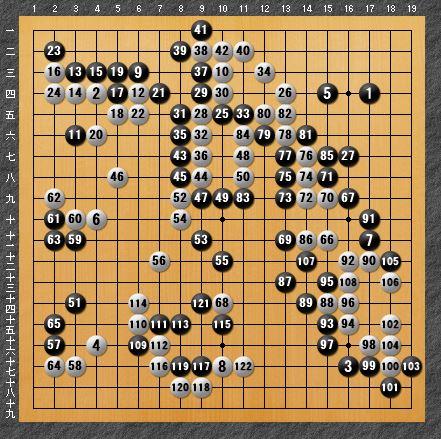 黒番 互先-panda009-5