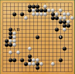 プロ棋士指導碁-大垣P指導碁五子局-003