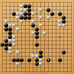 プロ棋士指導碁-吉岡P指導碁五子局-005