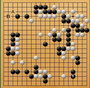 プロ棋士指導碁-大垣P指導碁五子局-005
